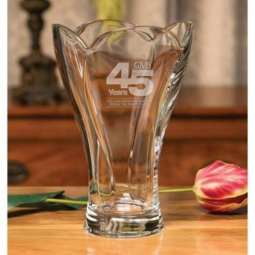 Symphony Clear Crystal Floral Vase