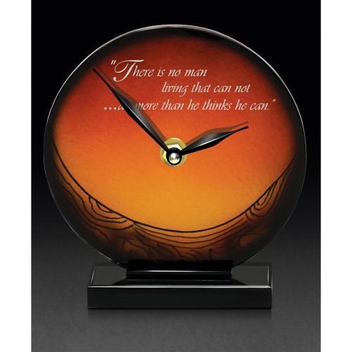 Amber Art Glass Mystic Clock