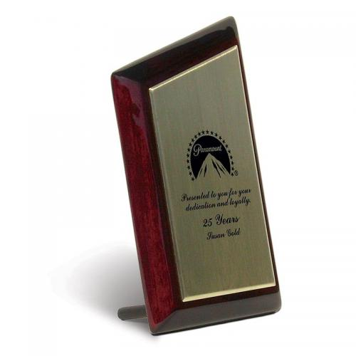 Bedford Slanted Top Wood Award with Zinc Plate