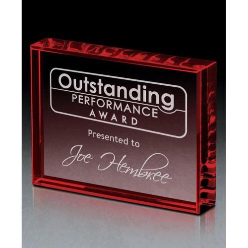 Crimson Ingot Crystal Horizontal Award