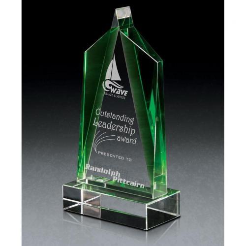 Emerald & Clear Crystal Enchantment Award
