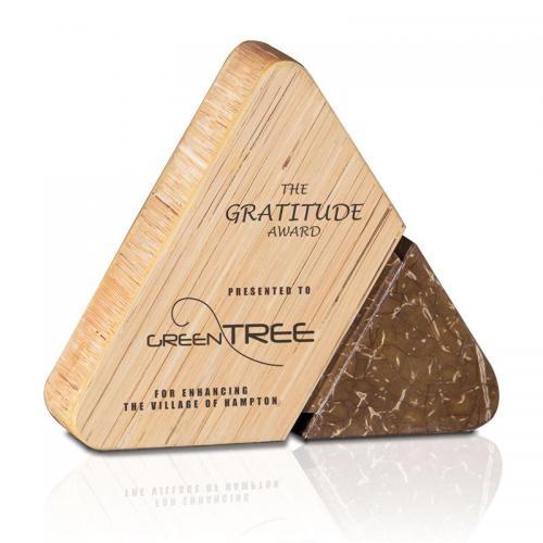 Natura Serene Bamboo & Coconut Shell Triangle Award