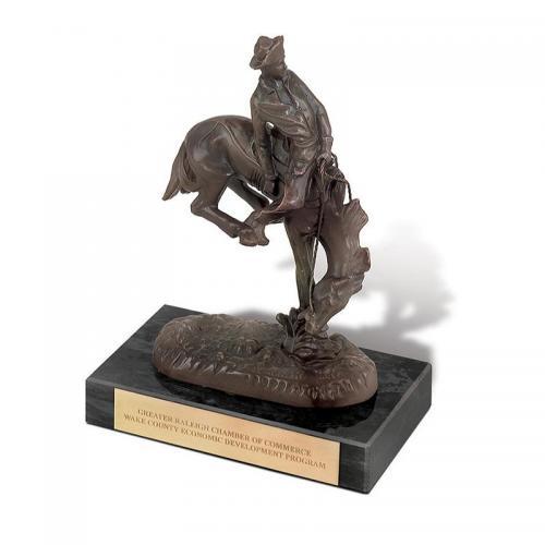 Gold Aluminium & Brass Outlaw Award on Black Marble Base