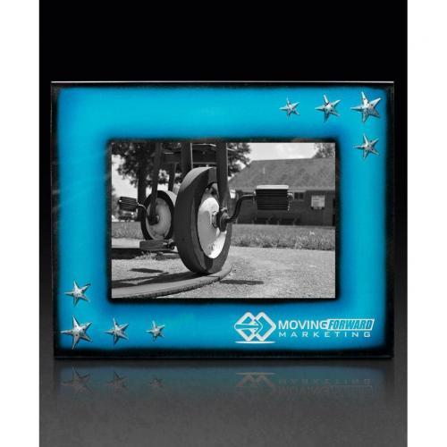 Turquarious Blue Art Glass Frame