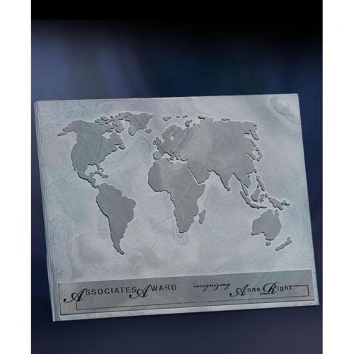 Multi Colored Slate World Map Plaque
