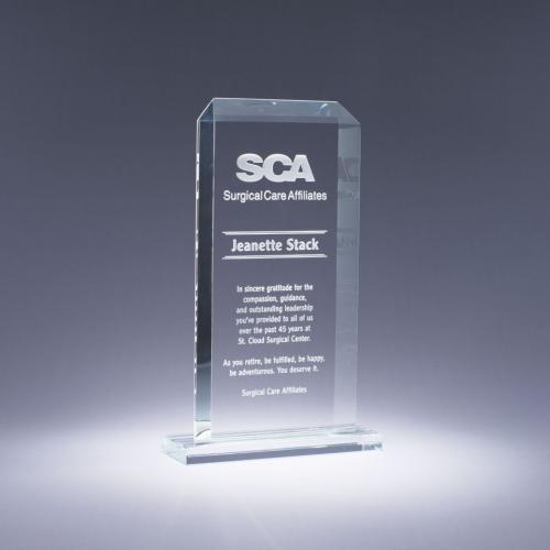 Clear Crystal Rectangle Classic Award