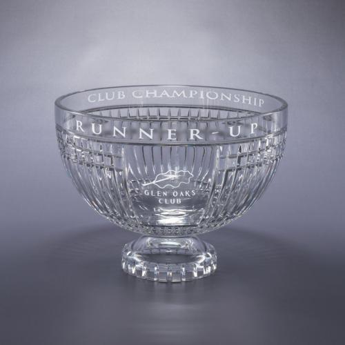 Clear Optical Crystal Vista Bowl Trophy