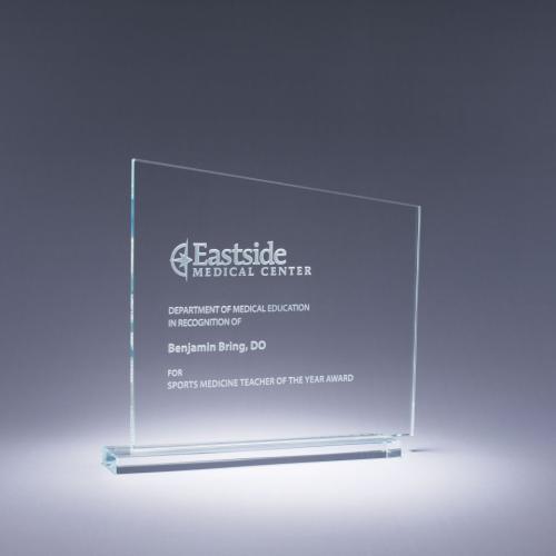 Midtown Clear Optical Crystal Angle Top Award