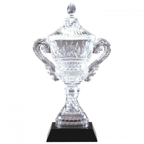 Optical Crystal Vase Trophy on Black Crystal Vase