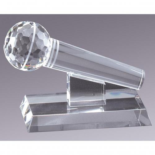 Clear Optical Crystal Microphone Award