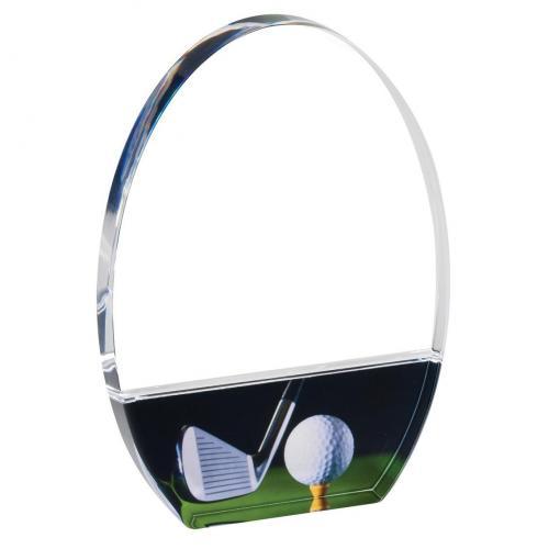 Oval Acrylic Golf Trophy Award
