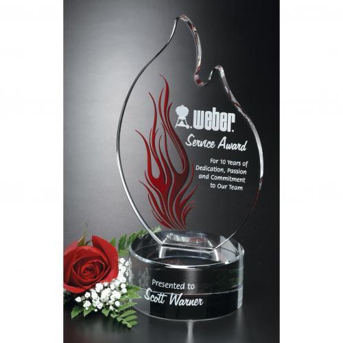 Wildfire Optical Crystal Flame Award