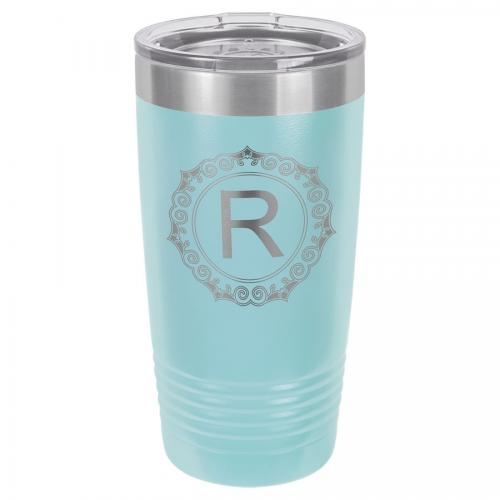 Polar Camel 20 oz. Light Blue Ringneck Vacuum Insulated Tumbler with Clear Lid