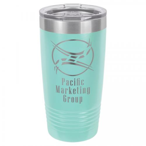 Polar Camel 20 oz. Teal Ringneck Vacuum Insulated Tumbler with Clear Lid