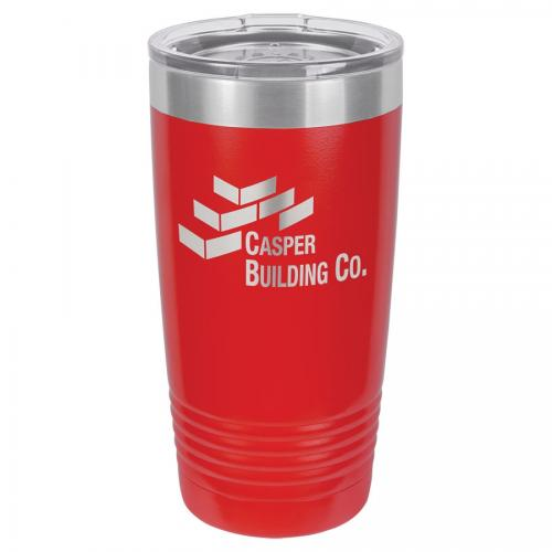 Polar Camel 20 oz. Red Ringneck Vacuum Insulated Tumbler with Clear Lid