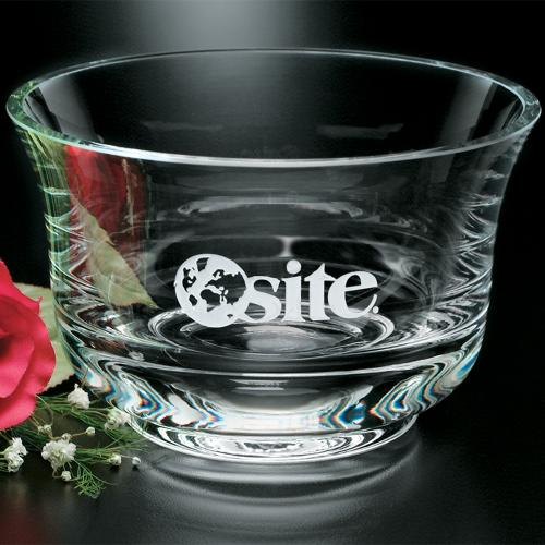 Revere Clear Optical Crystal Bowl Award