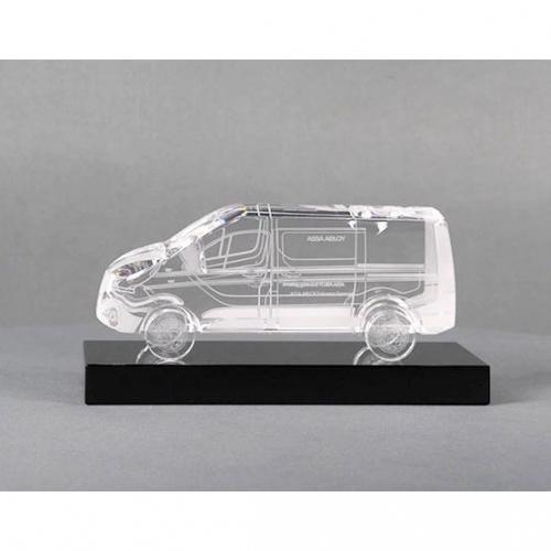 Assa Abloy Custom Crystal Minivan Award
