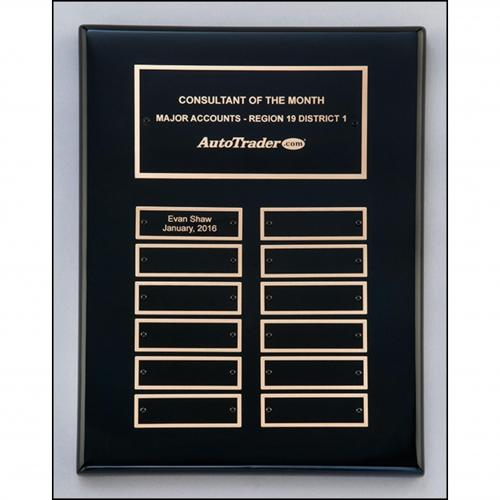 Black Stained Perpetual Plaque