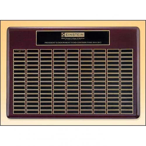 Roster Series Perpetual Plaques with Rosewood Piano Finish