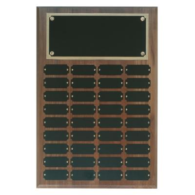 Genuine Walnut Completed Perpetual Plaque