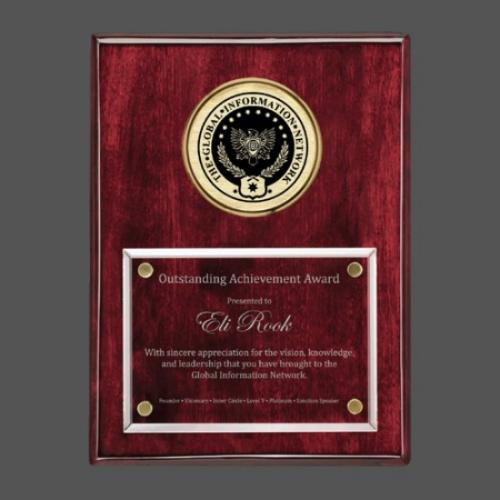 Jansenn Rosewood Plaque with Gold Accents