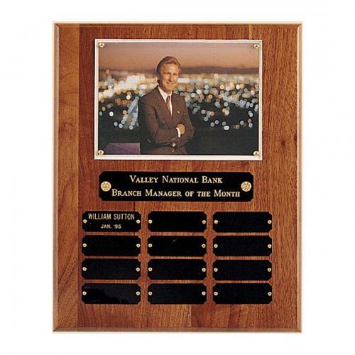 American Walnut Wood Perpetual Photo Plaque