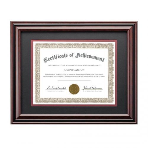 Mahogany & Ebony Finish Horizontal Keifer Certificate Plaque