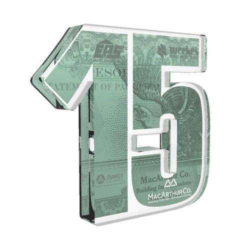 MacArthur Company Custom Green Acrylic Award