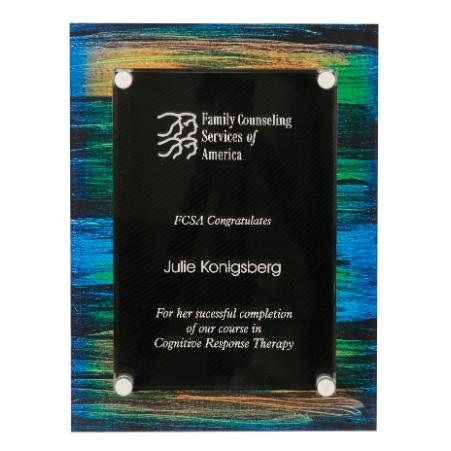 Multi Color Stand-Off Acrylic Plaque Award