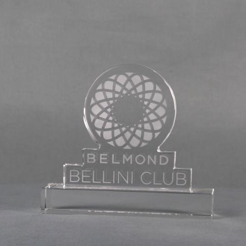 Clear Crystal Bellini Club Custom Award