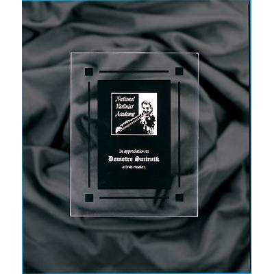Clear & Black Acrylic Rectangle Plaque with Black Border