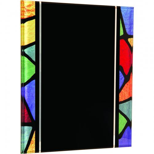 Multi Color Stained Glass Acrylic Plaque with Hanger