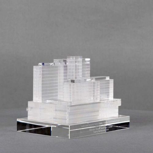 Custom Loma Linda Crystal 3D Building Replica