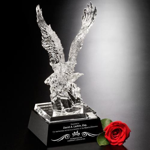 Clear Optical Crystal Journey Eagle Award
