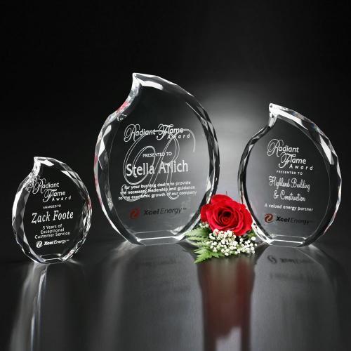 Clear Optical Crystal Lambent Flame Award