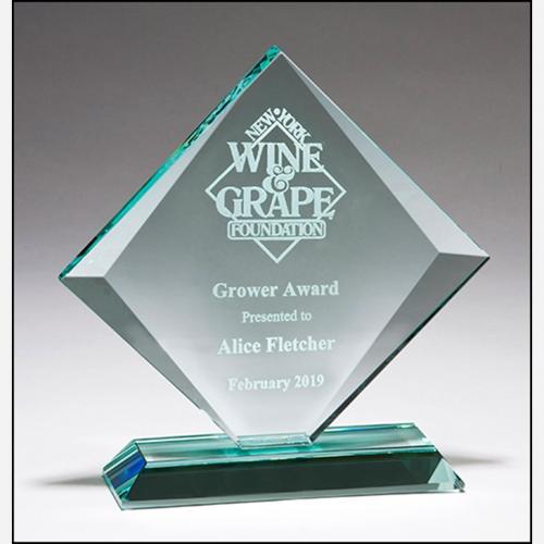 Diamond Series Jade Glass Award