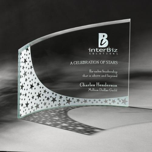 Breeze Jade Crystal Curved Crescent Award