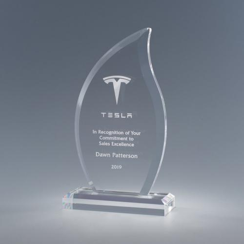 Clear Acrylic Ember Flame Award