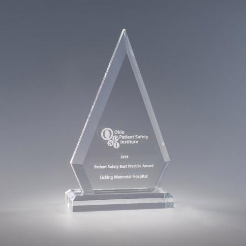 Clear Acrylic Vertex Diamond Award