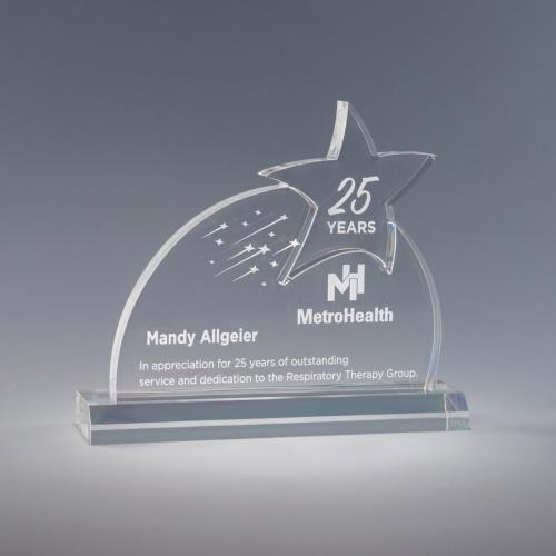 Clear Acrylic Stellar Star Award