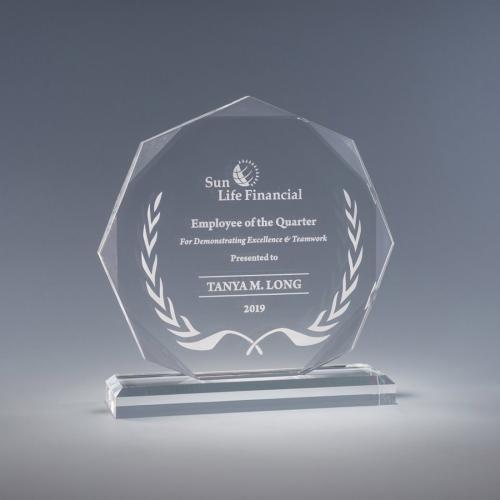 Otto Clear Acrylic Octagon Award