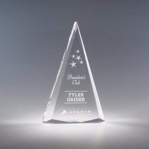 Clear Acrylic Zenith Triangle Award