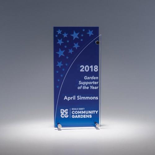 Fenestra Blue Acrylic Rectangle Award