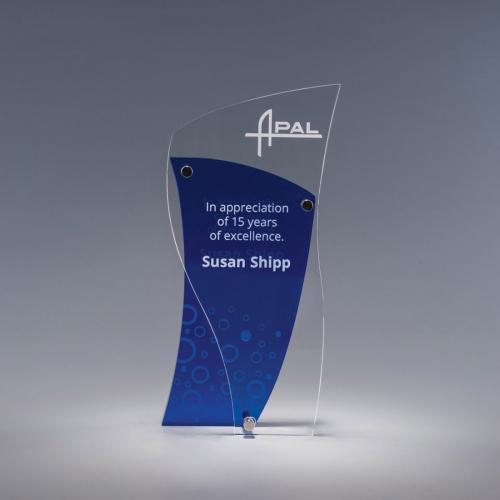 Chimera Clear & Blue Acrylic Award