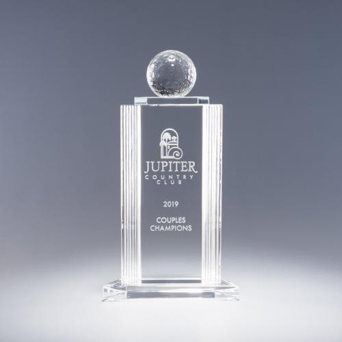 Helenic Clear Optical Crystal Golf Tower Award
