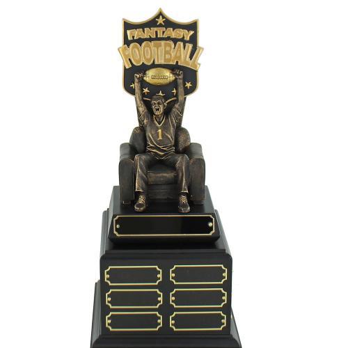 Black Gold & Bronze Perpetual Fantasy Football Trophy