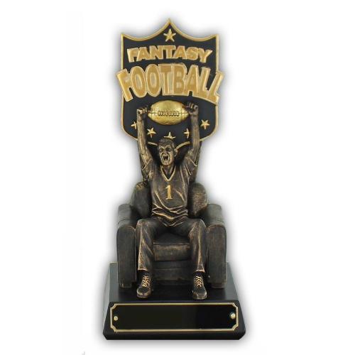 Gold & Bronze Finished Fantasy Football Trophy