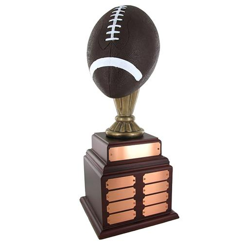 Pepetual 20'' Football Trophy with Multiple Plates