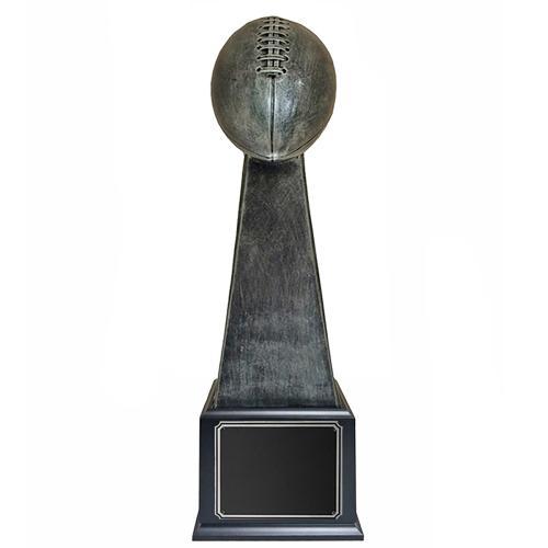 Antique Silver Fantasy Football Trophy