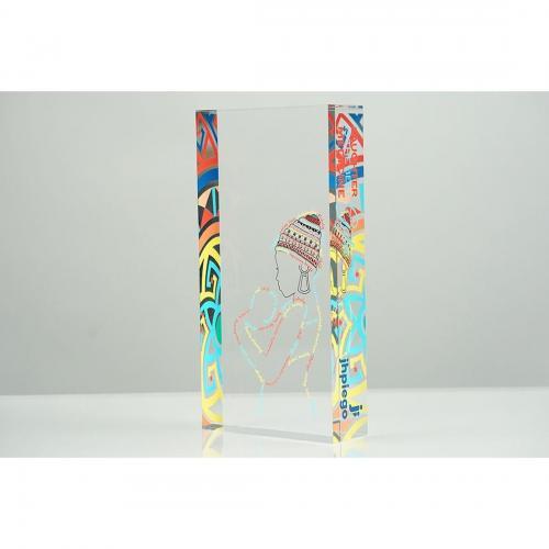 Clear & Multi Color Jhpiego Custom Acrylic Award